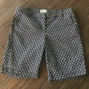 J. Crew size 6 black & white Bermuda shorts